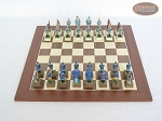 picture of American Civil War Chessmen with Spanish Wood Chess Board (3 of 6)