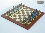 American Civil War Chessmen with Spanish Traditional Chess Board [Small] - Item: 684