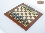 picture of American Civil War Chessmen with Spanish Traditional Chess Board [Small] (2 of 6)