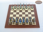 picture of American Civil War Chessmen with Spanish Traditional Chess Board [Small] (3 of 6)