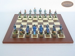 picture of American Civil War Chessmen with Spanish Traditional Chess Board [Small] (4 of 6)