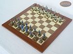 picture of American Civil War Chessmen with Spanish Traditional Chess Board [Large] (2 of 6)
