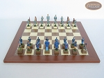 picture of American Civil War Chessmen with Spanish Traditional Chess Board [Large] (4 of 6)