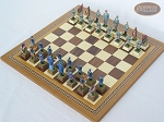 picture of American Civil War Chessmen with Spanish Mosaic Chess Board (2 of 6)