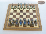 picture of American Civil War Chessmen with Spanish Mosaic Chess Board (3 of 6)