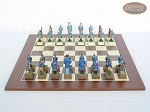 picture of American Civil War Chessmen with Spanish Wood Chess Board (4 of 6)