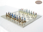 picture of American Civil War Chessmen with Spanish Lacquered Board [Grey] (2 of 6)
