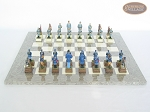 picture of American Civil War Chessmen with Spanish Lacquered Board [Grey] (3 of 6)