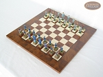 picture of American Civil War Chessmen with Italian Lacquered Chess Board [Wood] (2 of 6)