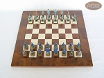 picture of American Civil War Chessmen with Italian Lacquered Chess Board [Wood] (3 of 6)