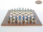picture of American Civil War Chessmen with Italian Lacquered Chess Board [Wood] (4 of 6)