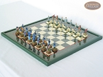picture of American Civil War Chessmen with Italian Lacquered Board [Green] (2 of 6)