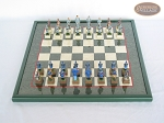 picture of American Civil War Chessmen with Italian Lacquered Board [Green] (3 of 6)