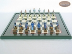 picture of American Civil War Chessmen with Italian Lacquered Board [Green] (4 of 6)