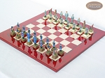 picture of American Civil War Chessmen with Italian Lacquered Chess Board [Red] (2 of 6)