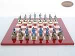 picture of American Civil War Chessmen with Italian Lacquered Chess Board [Red] (4 of 6)