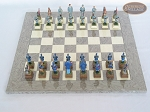 picture of American Civil War Chessmen with Spanish Lacquered Board [Grey] (4 of 6)
