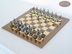 picture of American Civil War Chessmen with Spanish Lacquered Board [Wood] (2 of 6)
