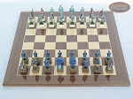 picture of American Civil War Chessmen with Spanish Lacquered Board [Wood] (3 of 6)