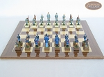 picture of American Civil War Chessmen with Spanish Lacquered Board [Wood] (4 of 6)