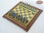 picture of American Civil War Chessmen with Italian Brass Chess Board [Raised] (2 of 6)