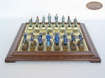 picture of American Civil War Chessmen with Italian Brass Chess Board [Raised] (4 of 6)