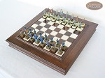 picture of American Civil War Chessmen with Italian Alabaster Chess Board with Storage (2 of 7)