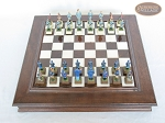 picture of American Civil War Chessmen with Italian Alabaster Chess Board with Storage (3 of 7)