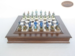 picture of American Civil War Chessmen with Italian Alabaster Chess Board with Storage (4 of 7)