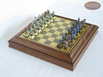 American Civil War Chessmen with Italian Brass Board with Storage - Item: 681