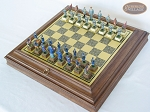 picture of American Civil War Chessmen with Italian Brass Board with Storage (2 of 8)