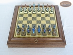 picture of American Civil War Chessmen with Italian Brass Board with Storage (3 of 8)
