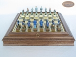 picture of American Civil War Chessmen with Italian Brass Board with Storage (4 of 8)