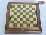 picture of Professional Staunton Maple Chessmen with Italian Brass Chess Board with Storage (5 of 7)