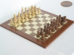 Exclusive Staunton Maple Chessmen with Spanish Traditional Chess Board - Item: 650