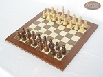 picture of Exclusive Staunton Maple Chessmen with Spanish Traditional Chess Board (2 of 5)