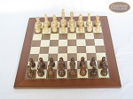 picture of Exclusive Staunton Maple Chessmen with Spanish Traditional Chess Board (3 of 5)