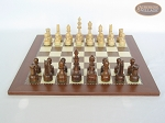 picture of Exclusive Staunton Maple Chessmen with Spanish Traditional Chess Board (4 of 5)
