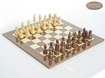 Exclusive Staunton Maple Chessmen with Spanish Lacquered Chess Board [Wood] - Item: 648