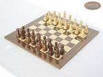 picture of Exclusive Staunton Maple Chessmen with Spanish Lacquered Chess Board [Wood] (2 of 5)