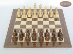 picture of Exclusive Staunton Maple Chessmen with Spanish Lacquered Chess Board [Wood] (3 of 5)