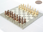 picture of Exclusive Staunton Maple Chessmen with Spanish Lacquered Chess Board [Grey] (2 of 5)