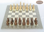 picture of Exclusive Staunton Maple Chessmen with Spanish Lacquered Chess Board [Grey] (3 of 5)