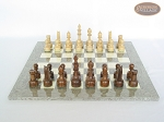 picture of Exclusive Staunton Maple Chessmen with Spanish Lacquered Chess Board [Grey] (4 of 5)