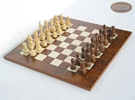 Exclusive Staunton Maple Chessmen with Italian Lacquered Chess Board [Wood] - Item: 652