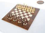picture of Exclusive Staunton Maple Chessmen with Italian Lacquered Chess Board [Wood] (2 of 5)