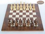 picture of Exclusive Staunton Maple Chessmen with Italian Lacquered Chess Board [Wood] (3 of 5)