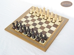 picture of Professional Staunton Maple Chessmen with Spanish Mosaic Chess Board (2 of 5)