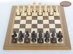 picture of Professional Staunton Maple Chessmen with Spanish Mosaic Chess Board (3 of 5)