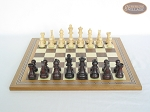 picture of Professional Staunton Maple Chessmen with Spanish Mosaic Chess Board (4 of 5)